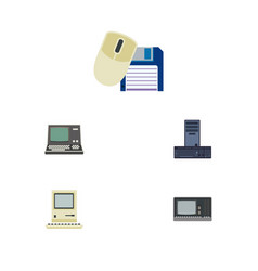 Flat icon computer set of computer mouse vector