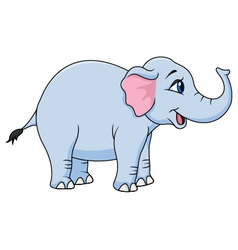 Funny elephant vector image