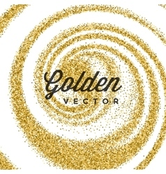 Gold Glitter Sparkles Bright Confetti white vector image