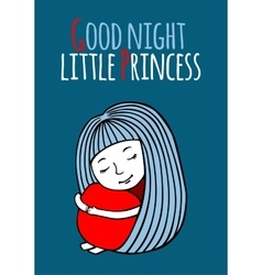 Good night little Princess vector image vector image