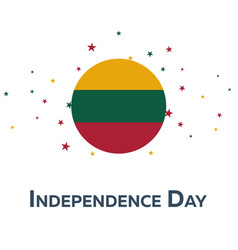Independence day of lithuania patriotic banner vector