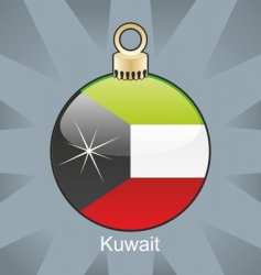 Kuwait bulb vector image