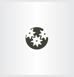 Mechanical gear logo icon vector