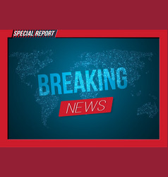 News banner template breaking news design layout vector