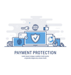 payment protection vector image vector image