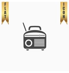 Radio symbol vector image vector image