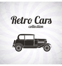 Retro car vintage collection vector image