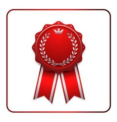 Ribbon award icon red vector