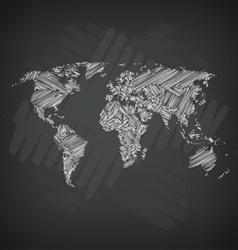 Sketchy world map vector