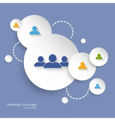Social networking background vector
