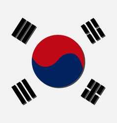 South Korean flag vector image vector image