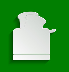 Toaster simple sign paper whitish icon vector