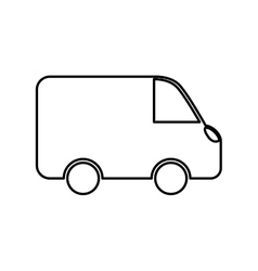 Van shipping vehicle vector image vector image