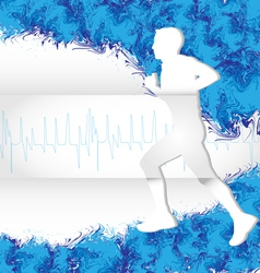 watercolor running vector image vector image