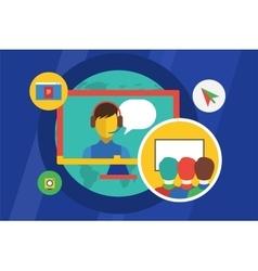 Webinar education meeting vector