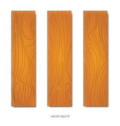 Wood boards set vector