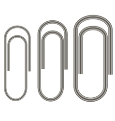 Set of Paper Clips Isolated vector image