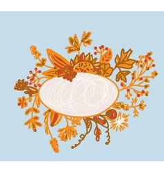 Frame for autumn - hand-drawn vector