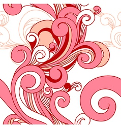 Seamless pattern with swirls vector