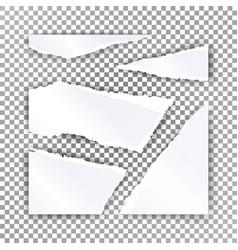 Torn paper blank realistic scraps of vector