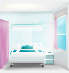 Hospital clean room empty interior vector