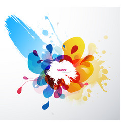 Abstract splash wallpaper vector