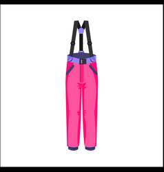 Skiing snowboarding feather pants winter sport vector