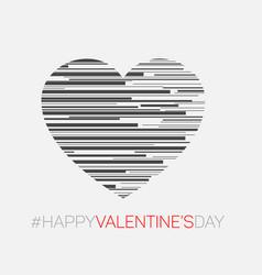 Minimalistic valentines card vector