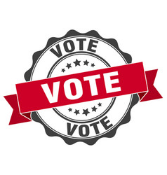 vote stamp sign seal vector image