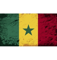Senegalese flag grunge background vector