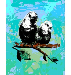 Two birds parrots in eps vector
