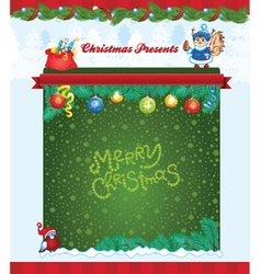 Winter holiday template vector