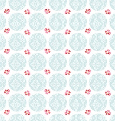 Seamless Pattern with little flowers vector image