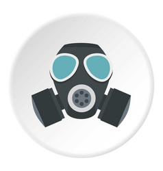 Army gas mask icon circle vector