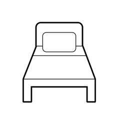 bed hotel isolated icon vector image
