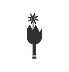 Black icon on white background broken bottle and vector