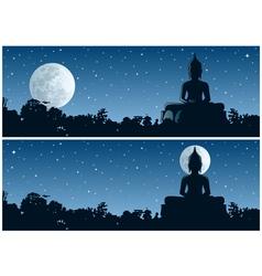 Buddha Night vector image vector image
