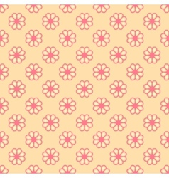 Feminine seamless pattern tiling Fond pink and vector image vector image