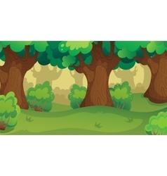 Game forest oakwood landscape vector