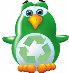 green penguin vector image vector image