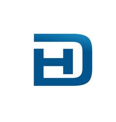 Hd logo vector