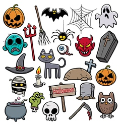 Holloween set vector image vector image