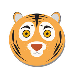 Isolated tiger face vector