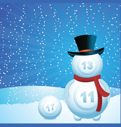 lottery snowman vector image vector image