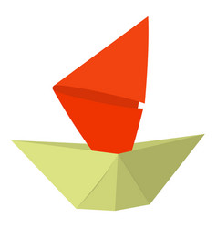origami ship icon cartoon style vector image