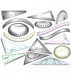 perspective rulers vector image