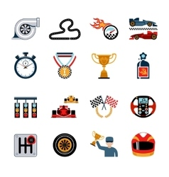 Racing Icons Set vector image