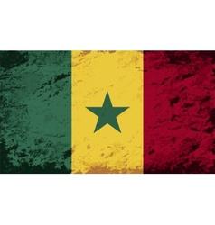 Senegalese flag Grunge background vector image