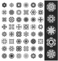 set of ornaments vector image vector image