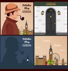 Sherlock holmes detective vector